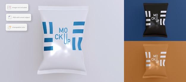 Simple chips bag mockup