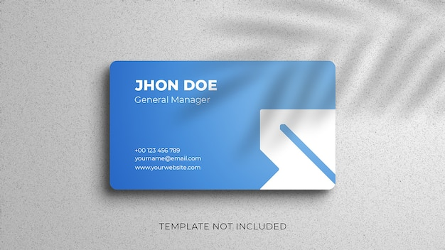 Simple and clean business card mockup