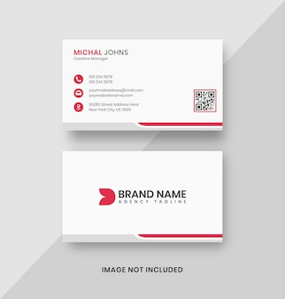 Simple clean white business card design template