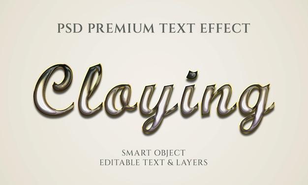 Простой дизайн текстового эффекта cloying