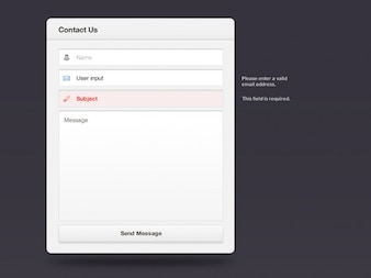 Simple contact formulary for web design