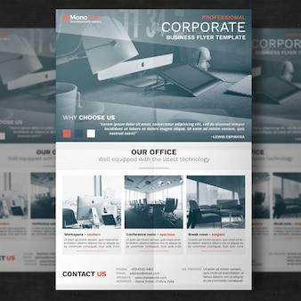 Simple corporate flyer template