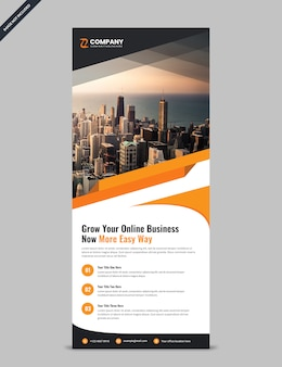 Simple corporate rollup banner template