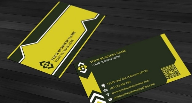 Simple design business card template in yellow