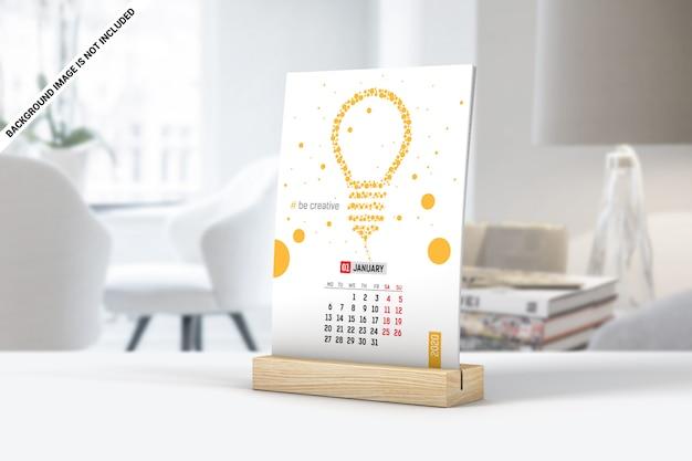 Simple desk calendar mockup