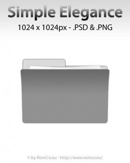 Simple elegance folder icon