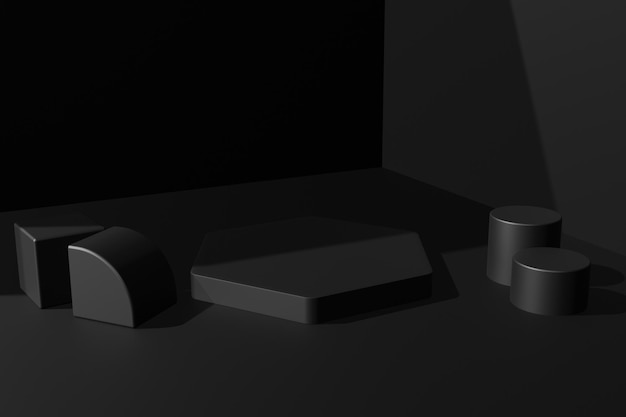 Simple elegant 3d rendering podium stage background