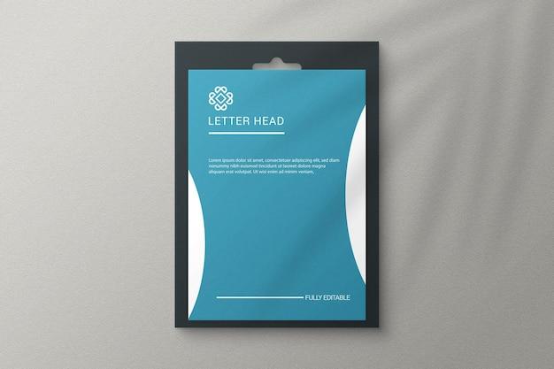 Simple elegant a4 size paper mockup