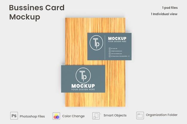 Simple elegant business card mockup