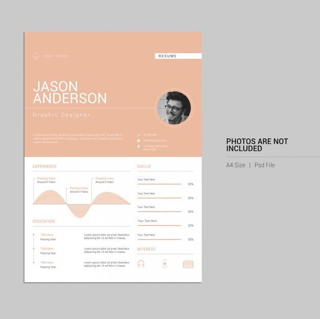 Simple and elegant resume design