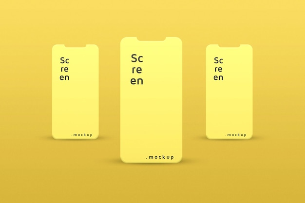 Simple and elegant smartphone for app screen
