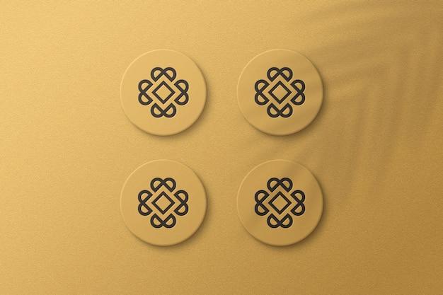Simple elegant sticker mockup