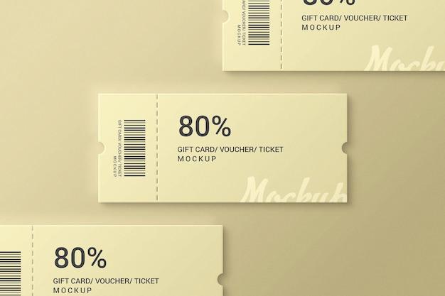 Simple and elegant ticket mockup