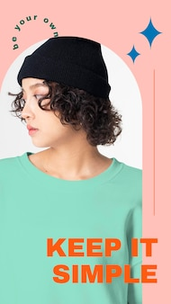 Simple fashion template psd for social media story
