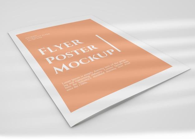 Простой дизайн макета плаката флаера