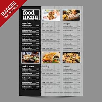 レストランやバーのプレミアムテンプレートのシンプルなフードメニュー Premium Psd