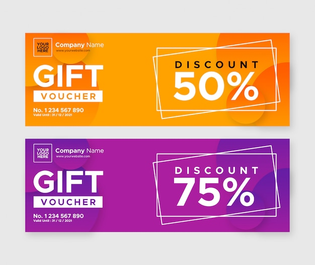 Simple gift voucher discount design