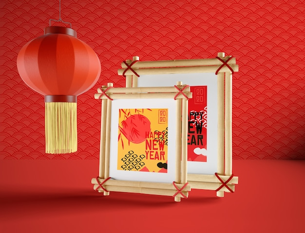 Простая иллюстрация для китайского нового года