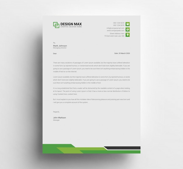 Simple letterhead template design