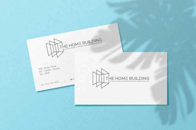 Simple logo mockup on white business card