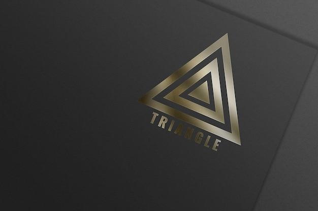 Simple luxury logo mockup design