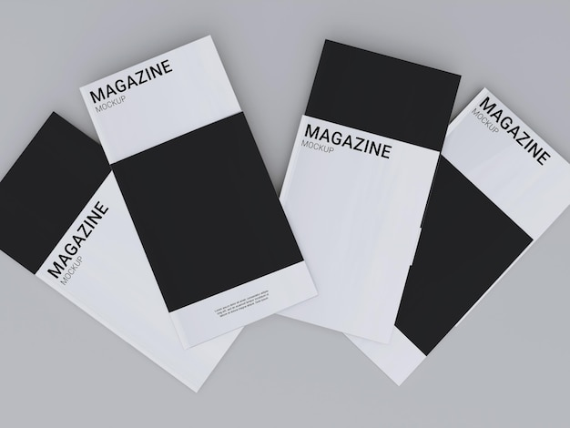 Simple magazine mockup design