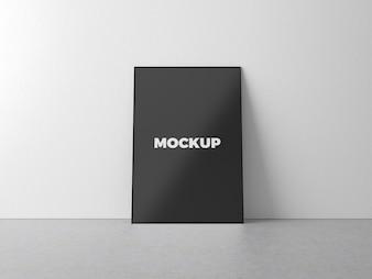 Simple minimal poster mockup