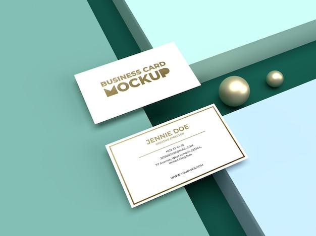 Simple minimalist business card with luxury shiny texturemockup