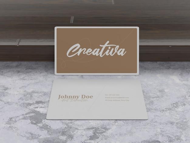 Simple minimalist luxury business card mockup