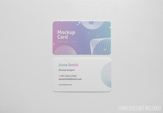 Simple mockup of visiting cards