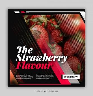 포스트 템플릿 템플릿 간단한 현대 동적 음식 instagram