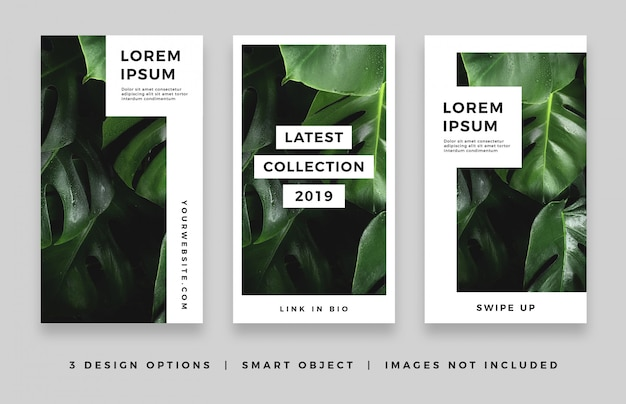 Simple modern instagram story design collection