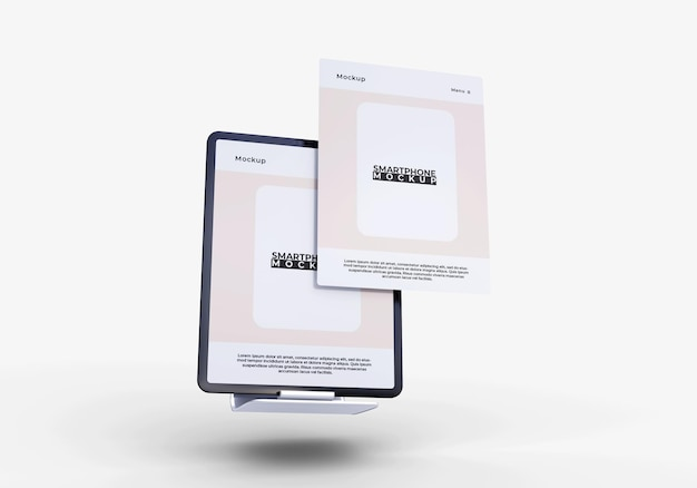 Simple and modern screen tablet mockup