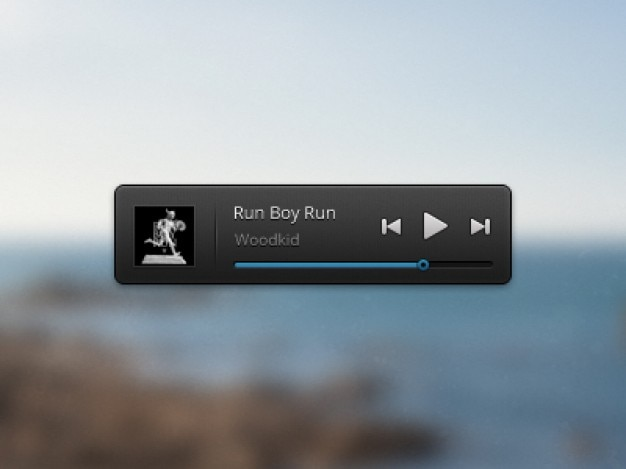Simple music player with picture