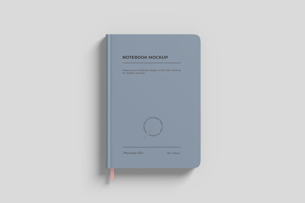 Simple notebook mockup top view