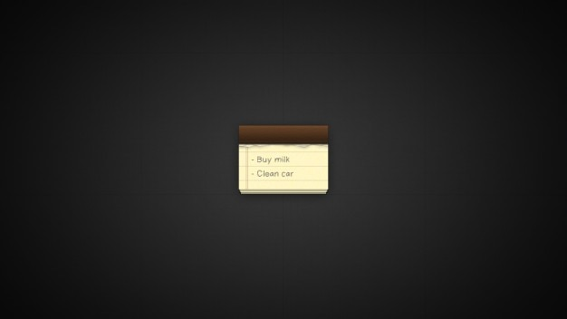 Simple notepad with list
