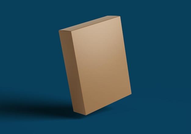 Макет концепции простой упаковочной коробки