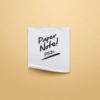 Simple paper note origami psd