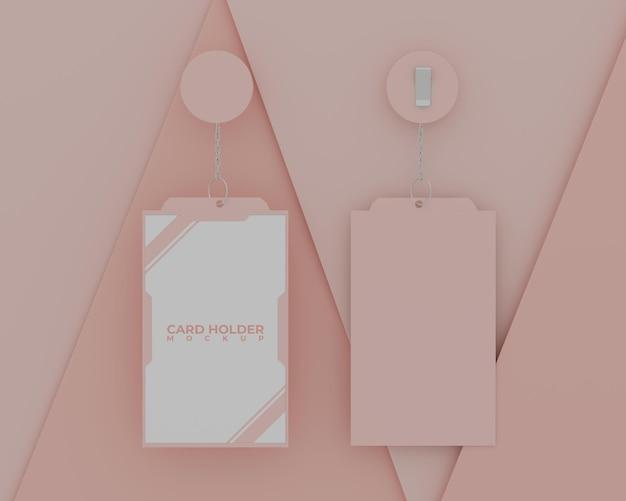 Простой розовый макет держателя карты