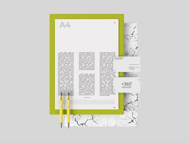 シンプルな印刷モックアップテンプレート
