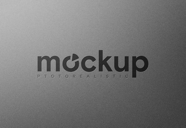 Простой реалистичный макет логотипа