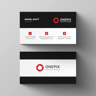 Simple red business card design