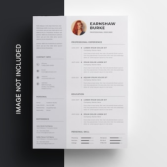 Simple resume  with sidebar