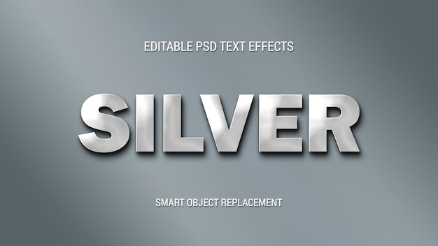 Simple silver text effects