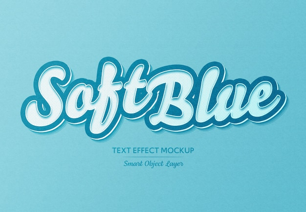Simple soft blue text effect
