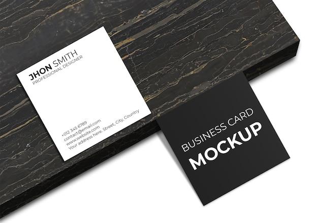 Простой квадратный макет визитки