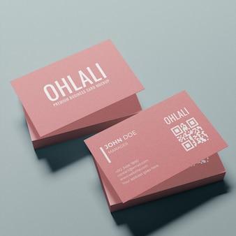 Простой макет визитки