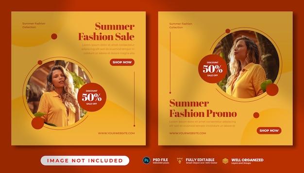 Simple summer fashion sale instagram post templates