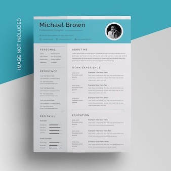 Simple topbar resume template