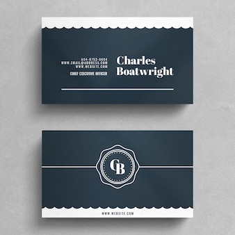 Simple vintage business card template